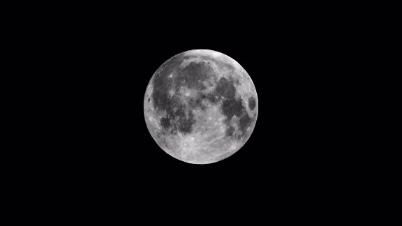 Doucet spent time outside capturing multiple images of the bright moon.