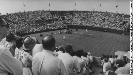 Davis Cup Tournament in Forest Hills.  (Photo by Donald Uhrbrock/The LIFE Images Collection/Getty Images)