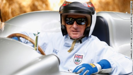 CHICHESTER, ENGLAND - JUNE 27:  Sir Jackie Stewart prepares to drive up the hill at Goodwood on June 27, 2015 in Chichester, England.  (Photo by Charles Coates/Getty Images)