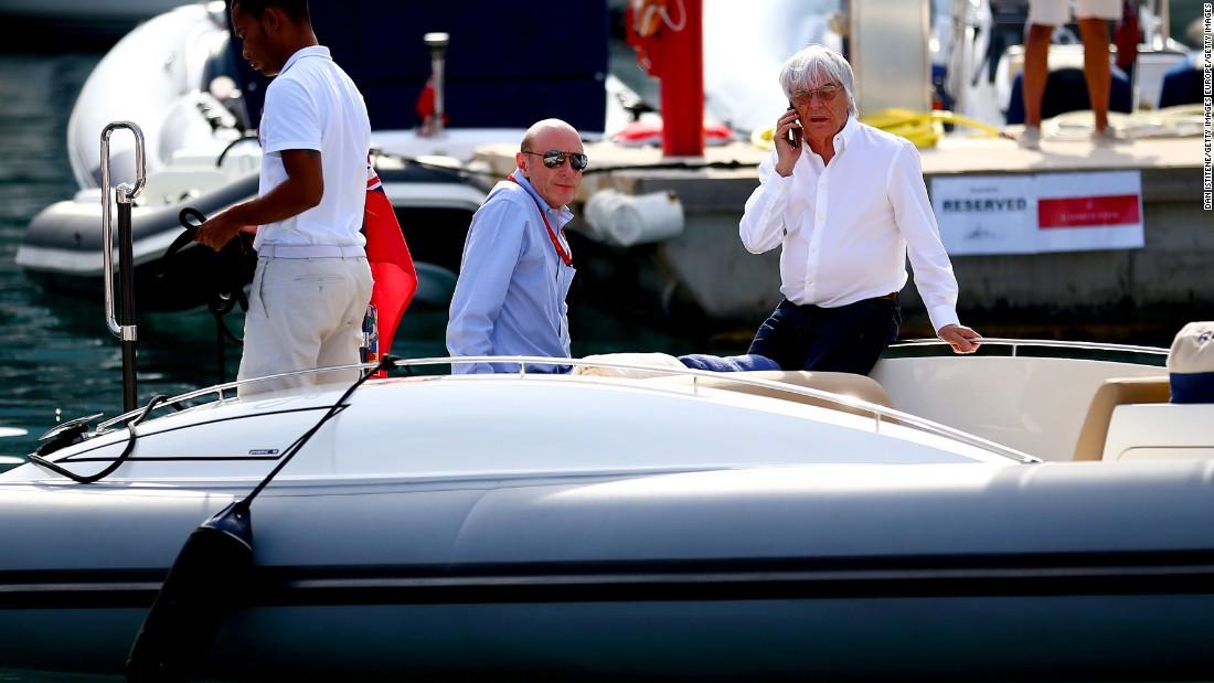There were whispers his time could be up under previous owner CVC, but its chief executive Donald MacKenzie (center) initially kept the octogenarian on board despite F1's recent problems.