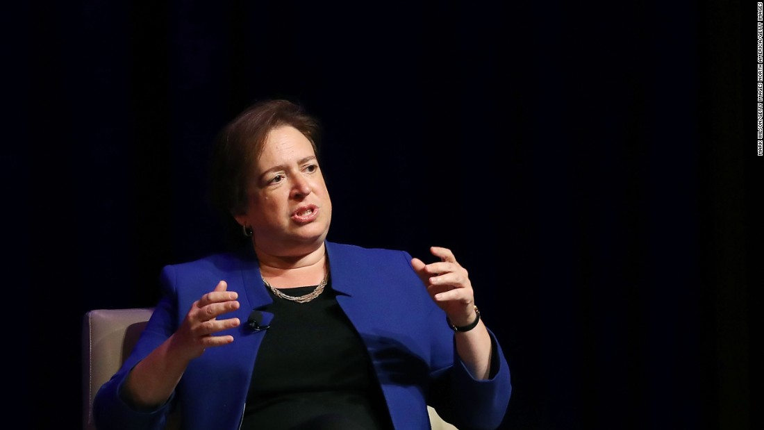 Elena Kagan, associate justice of the Supreme Court, participates in a discussion at the George Washington University Law School in Washington on Tuesday, September 13.
