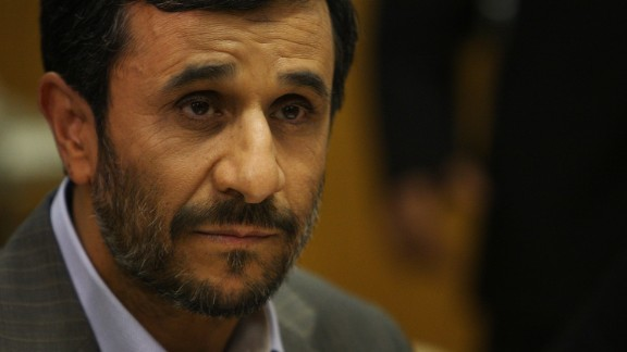Iranian President Mahmoud Ahmadinejad attends a meeting with UN Secretary-General Ban Ki-Moon at the UN on September 25, 2009 in New York, New York.
