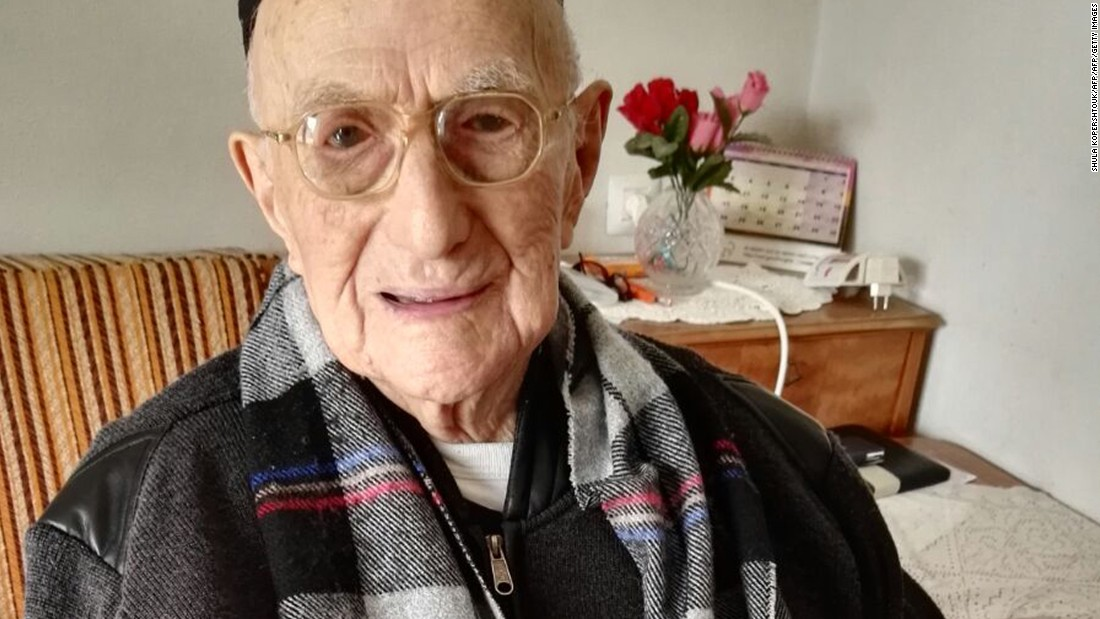 "Yisrael Kristal, 113, lives in Haifa, Israel, but grew up in Poland and survived being sent to Auschwitz. He ran candy stores in Lodz and in Haifa but keeps a healthy and simple diet. He credited that, along with prayer, for his longevity. He celebrated his bar mitzvah, which had been delayed by World War I, <a href=""http://www.cnn.com/2016/09/16/middleeast/worlds-oldest-man-bar-mitzvah/"">when he turned 113. </a>"