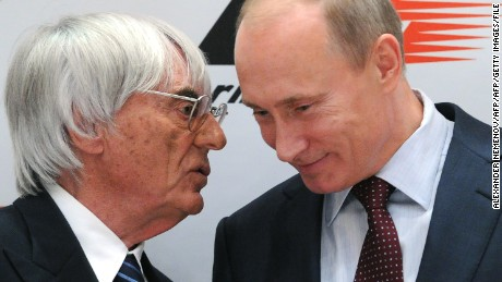 Ecclestone, pictured with Vladimir Putin, has taken F1 to countries such as Russia.