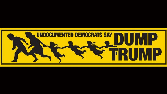 A bumper sticker on immigration.