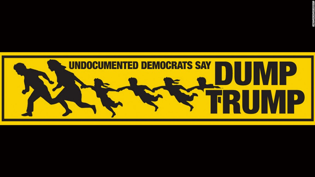 A bumper sticker on immigration.
