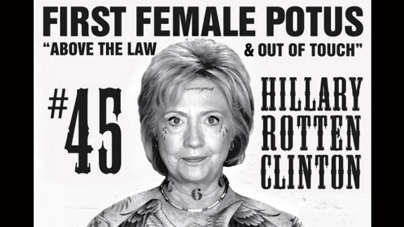 After a progressive group reworked the Cruz poster to one that positively portrayed Hillary Clinton, Sabo made this as a protest.