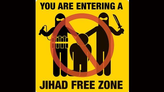 A poster addressing terrorism.