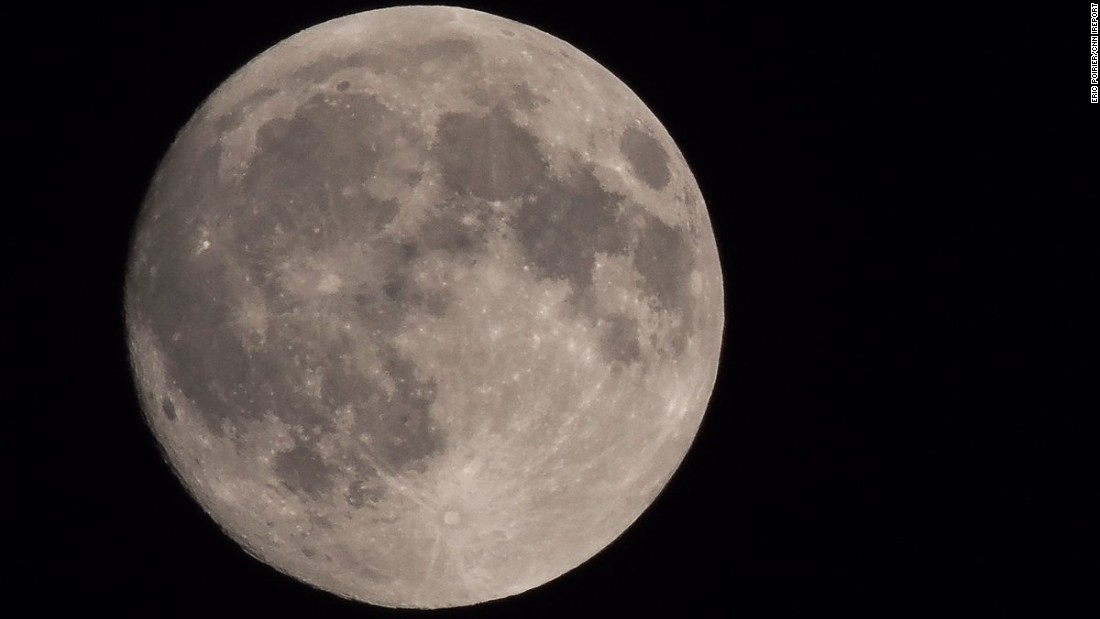 Eric Poirier always loves looking at the moon, he told CNN. Here's what he saw Thursday night, September 15, in Aylmer, Quebec.