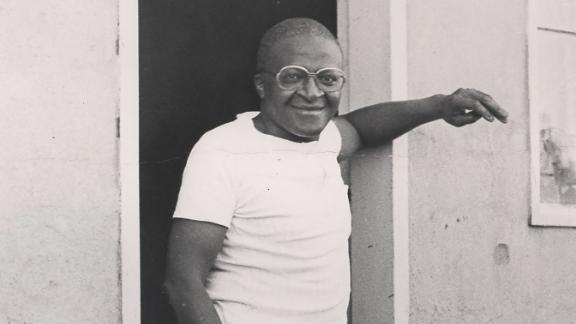 Tutu is seen with his mother-in-law, Johanna Shenxane, and his wife, Leah, in the Kagiso township west of Johannesburg, circa 1970. Tutu resigned as a teacher in 1957, protesting government restrictions on education for black children. He was ordained as an Anglican priest in 1961, and in 1975 he became the first black appointed Anglican dean of St. Mary's Cathedral in Johannesburg.