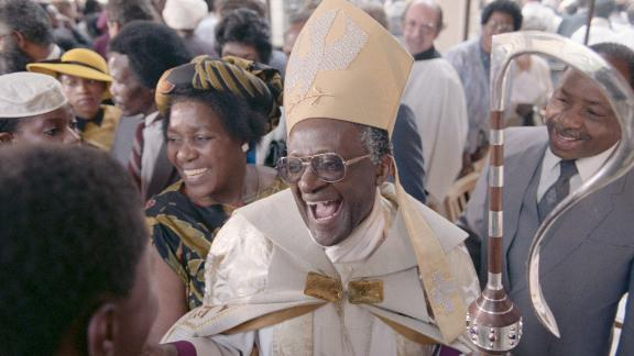 In 1986, Tutu was elected archbishop of Cape Town, becoming the head of the Anglican Church in South Africa, Botswana, Namibia, Swaziland and Lesotho.