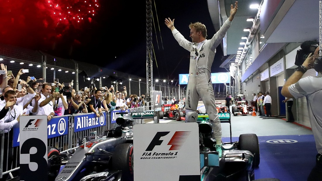 "F1's night race shines the light on Rosberg once more as the German <a href=""http://cnn.com/2016/09/18/motorsport/singapore-f1-rosberg-hamilton/"" target=""_blank"">reclaims the championship lead with a crucial victory.</a> Rosberg holds off a thrilling late charge from Red Bull's Daniel Ricciardo as an out-of-sorts Hamilton is third."
