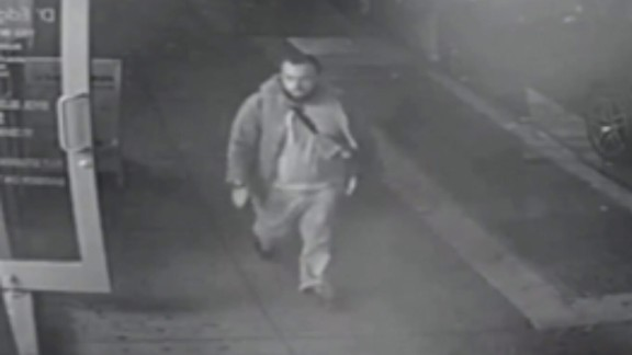 This image apparently taken from surveillance footage shows Rahami, officials say.