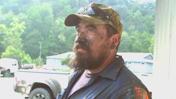 Miner Ryan Barnette, 34, works in Gary, West Virginia.