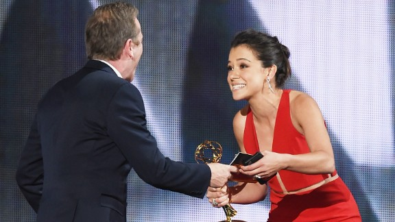 "Tatiana Maslany accepts Outstanding Lead Actress in a Drama Series for ""Orphan Black."""