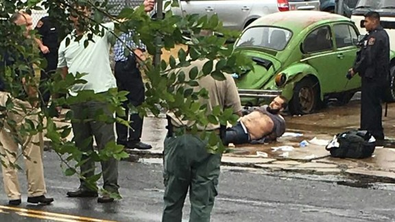 Authorities capture Ahmad Khan Rahami after a shootout Monday with police in Linden, New Jersey.