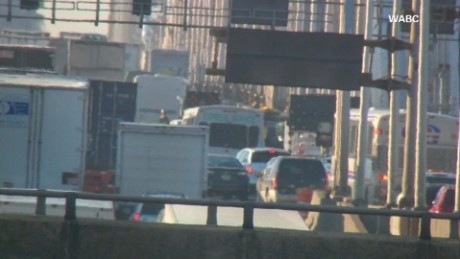 Lane closures at the George Washington Bridge snarled traffic.