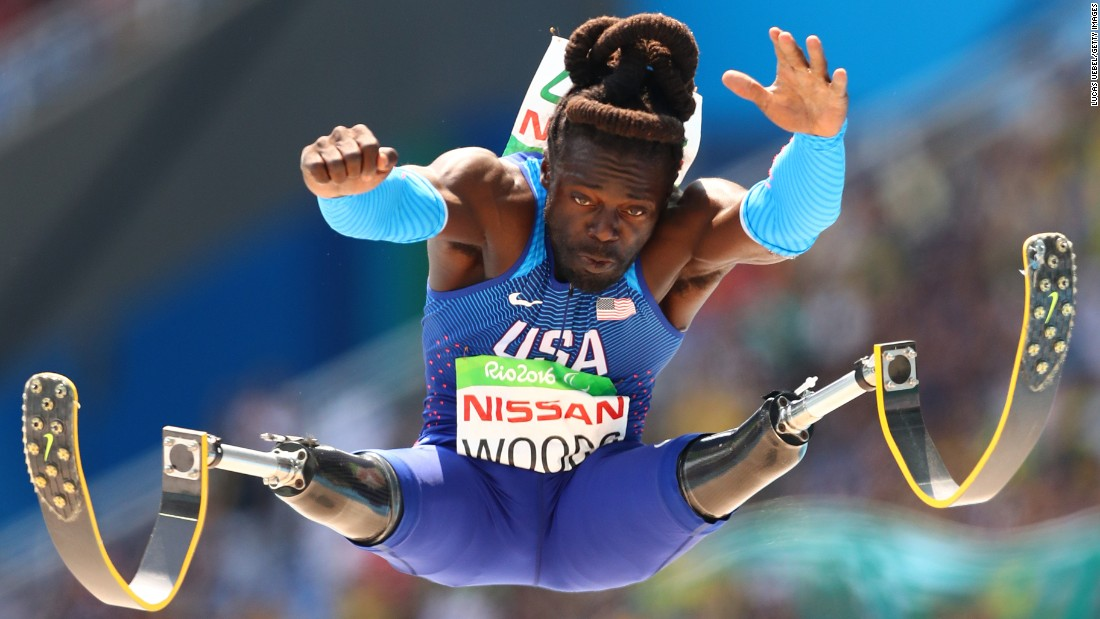 "American athlete Regas Woods competes in the long jump during the Paralympic Games in Rio de Janeiro on Saturday, September 17. <a href=""http://www.cnn.com/2016/09/19/sport/rio-2016-paralympics-memorable-moments-duplicate-2/index.html"" target=""_blank"">The memorable moments of the Rio Paralympics</a>"