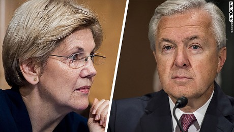 Elizabeth Warren rips into Wells Fargo CEO