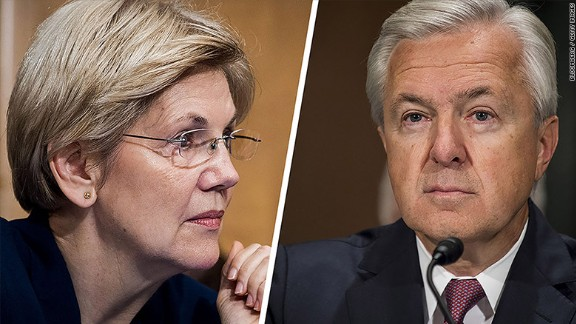 Elizabeth Warren unleashed a verbal barrage at Wells Fargo CEO John Stumpf on Tuesday