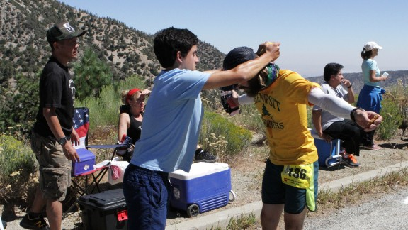 Aid stations double as checkpoints where slower runners who miss the time window are out of the race.