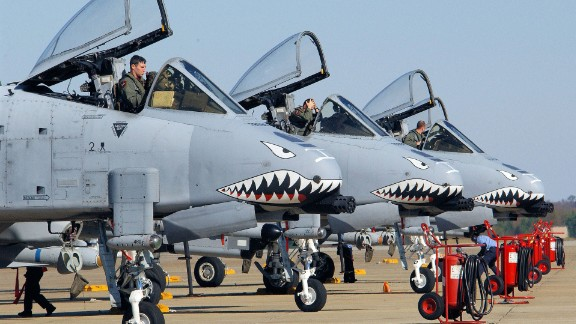 A-10 Thunderbolts at Georgia's Moody Air Force Base sport nose art similar to the Flying Tigers.