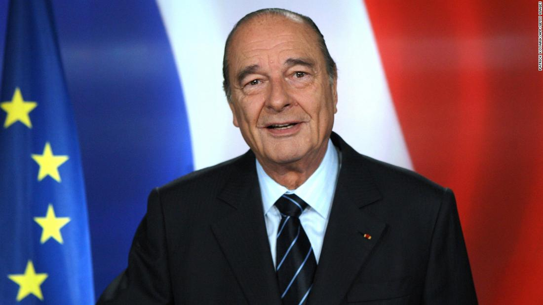 "Former French President Jacques Chirac poses for a photo after addressing the nation in March 2007. Chirac, 83, <a href=""http://www.cnn.com/2016/09/18/europe/france-jacques-chirac-hospitalized/"" target=""_blank"">was recently admitted to a Paris hospital</a> for a pulmonary infection, his son-in-law Frederic Salat-Baroux said."
