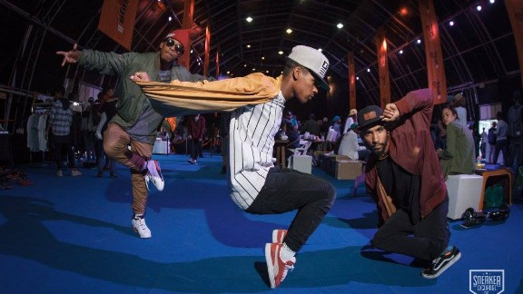 """Zaid Osman launched The Sneaker Exchange, a popular event in Cape Town, where people buy and sell their own footwear in 2013. """"Sneakers know no color, race or creed -- all individuals from different walks of life can come together for their mutual love of sneakers,"""" he told CNN."""