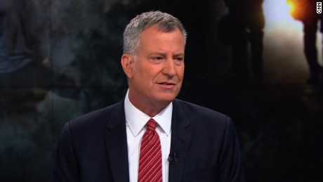 De Blasio: Trump is wrong on 'stop-and-frisk' policing
