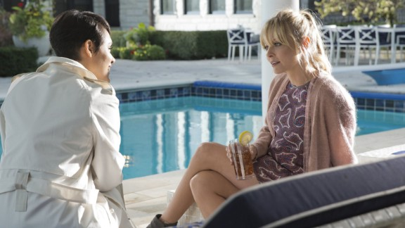"Anika (Grace Gealey), left, and Rhonda (Kaitlin Doubleday) ended season 2 of ""Empire"" with a fight on a balcony which ended with one of them falling off. The season 3 premiere revealed it was Rhonda who fell to her death."