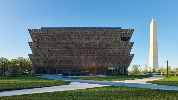The Smithsonian's National Museum of African American History and Culture in Washington opens on September 24, after a dedication ceremony with President Barack Obama. The winning building design was by Freelon Adjaye Bond/Smithgroup, a four-firm team. It was built on the last available land on the National Mall.