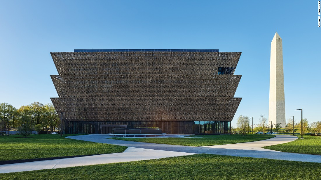 "The Smithsonian's <a href=""https://nmaahc.si.edu/"" target=""_blank"">National Museum of African American History and Culture</a> in Washington opens on September 24, after a dedication ceremony with President Barack Obama. The winning building design was by Freelon Adjaye Bond/Smithgroup, a four-firm team. It was built on the last available land on the National Mall."