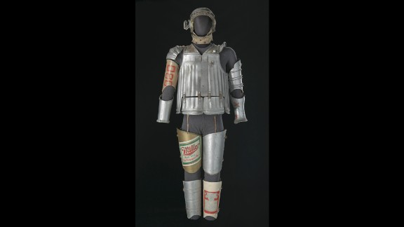 "This costume for the Tin Man in the Broadway production of ""The Wiz,"" an African-American take on ""The Wizard of Oz,"" is from 1975."