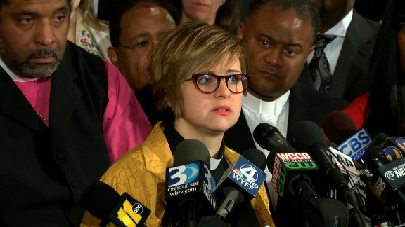 """The Rev. Robin Tanner, chairwoman of the Charlotte Clergy Coalition for Justice, says she was with protesters to be a witness to """"the righteous rage."""""""