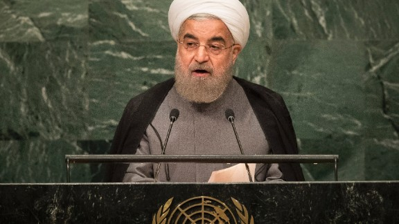 Iranian President Hassan Rouhani addresses the United Nations General Assembly at UN headquarters, September 22, 2016 in New York City.