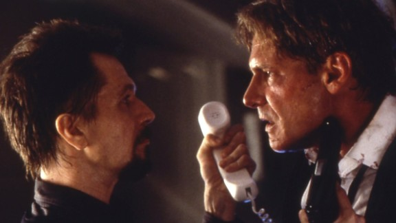 """""""Air Force One"""": Harrison Ford stars as the president of the United States who must try to outwit hijackers to save his family. (Hulu)"""