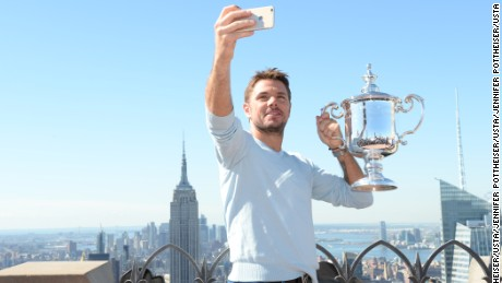 September 12, 2016 -  Satellite Media Tour with 2016 US Open Men's Singles Champion Stan Wawrinka after the 2016 U.S. Open at the USTA Billie Jean King National Tennis Center in Flushing, NY.