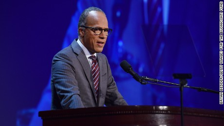 Master of Ceremonies, Lester Holt speaks at the 31th Annual Great Sports Legends Dinner to benefit The Buoniconti Fund to Cure Paralysis at The Waldorf Astoria Hotel on September 12, 2016 in New York City.  (
