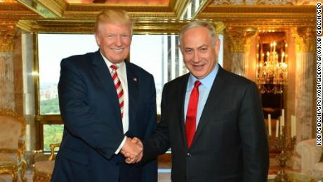 Benjamin Netanyahu met Donald Trump at Trump Tower in New York in September.