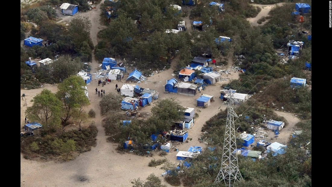 An aerial view of the camp in September 2009.