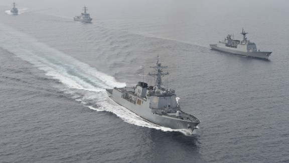 The drills show off US and South Korea military might.
