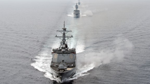 The drills saw the US guided missile destroyer USS Spruance join ships, submarines and planes from the South Korean navy in waters east of the Korean Peninsula.