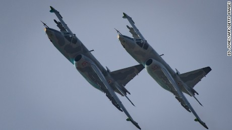 North Korea shows off its air force