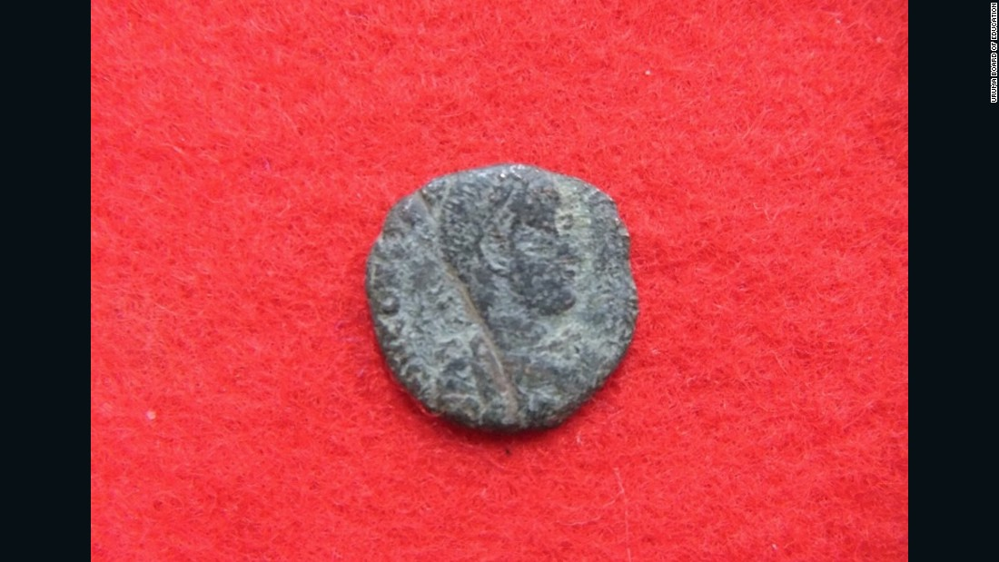 "Ten ancient Roman and Ottoman coins were <a href=""http://edition.cnn.com/2016/09/27/luxury/ancient-roman-coins-japan/"">recently discovered in castle ruins in Okinawa, Japan</a>. This image shows the front of one of the Roman coins."