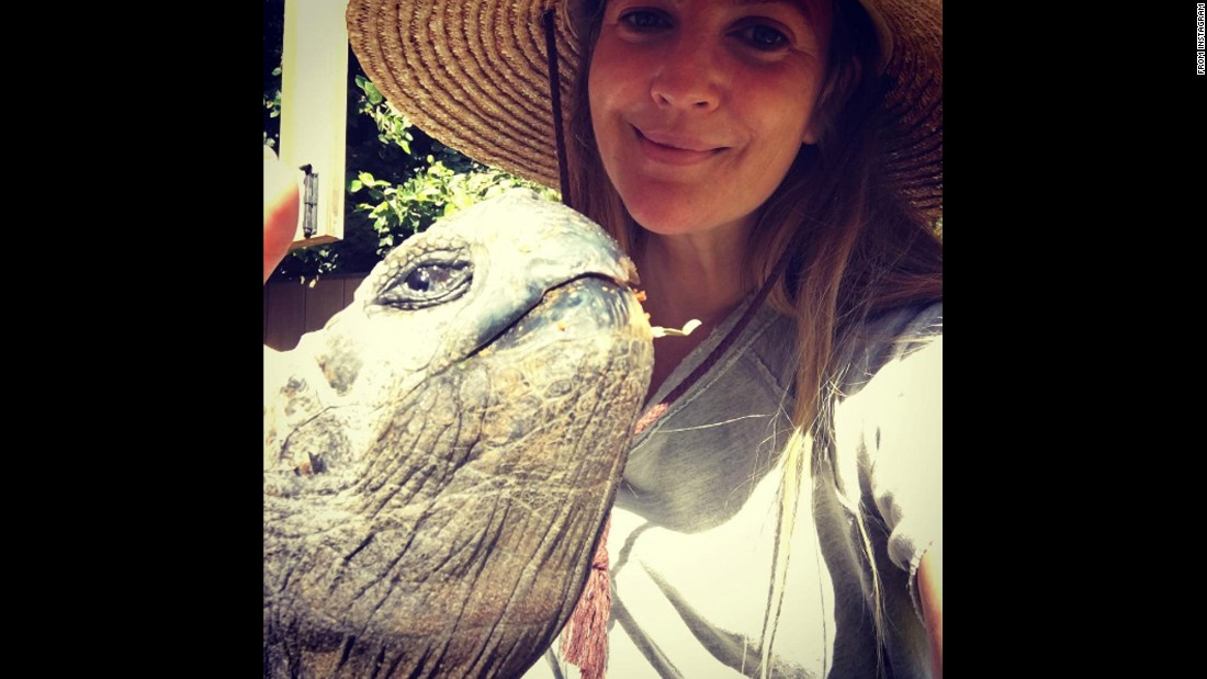 "Actress Drew Barrymore takes a selfie with a turtle on Sunday, September 4. She added the hashtag ""#labordayvibes"" <a href=""https://www.instagram.com/p/BJ8kCmghUKi/"" target=""_blank"">on Instagram.</a>"