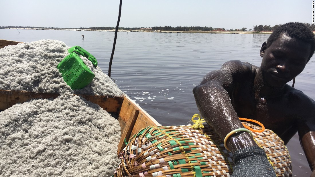A visit to Senegal's Pink Lake gets you an up close and personal look at salt harvesting, it's an amazing thing to watch as men pull salt from the bottom of the lake by hand but cover themselves in shea butter to protect their skin. The results in person are even better than the photo!