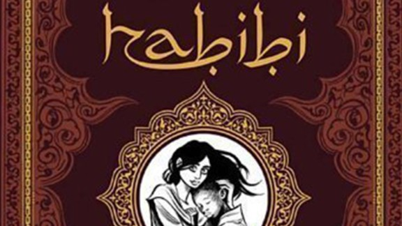 """Another graphic novel, this time, set in an Islamic fairy tale landscape, """"Habibi"""" tells the story of two escaped child slaves who grow to love each other. Reasons cited in challenges included nudity, sexually explicit content and being unsuited for age group."""