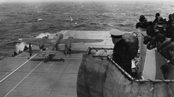 On April 18, 1942, a B-25 Mitchell piloted by Doolittle and co-piloted by Cole took off for Tokyo from the USS Hornet about 650 miles from Japan.