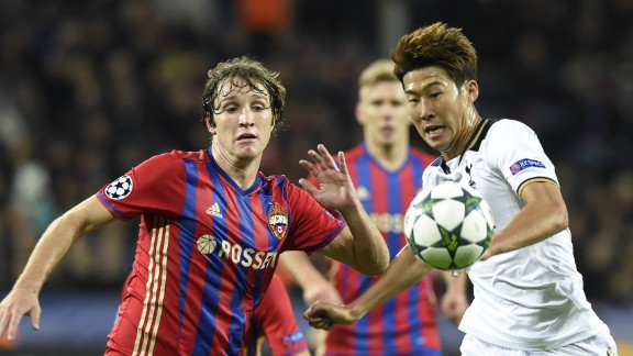South Korean striker Son Heung-Min grabbed the only goal of the game as Tottenham won 1-0 at CSKA Moscow.
