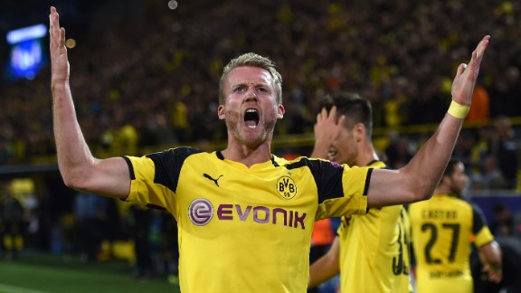 Andre Schurrle became the first German to score for four different clubs in the Champions League.